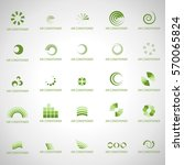 air conditioner icons set... | Shutterstock .eps vector #570065824
