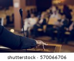 speaker presentation... | Shutterstock . vector #570066706