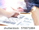 businessman hand working with... | Shutterstock . vector #570071884