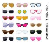 Set Of Colorful Sunglasses...
