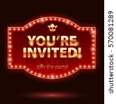 you're invited sticker.... | Shutterstock .eps vector #570081289