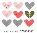 illustration of heart faces... | Shutterstock .eps vector #570083638
