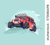 off road. competitions on suvs. ... | Shutterstock .eps vector #570086698