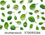 spinach pattern background on... | Shutterstock . vector #570090286