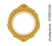 vintage gold picture frame | Shutterstock .eps vector #570091534