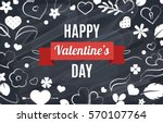 happy valentines day. vector... | Shutterstock .eps vector #570107764