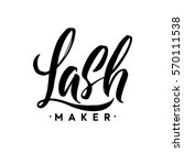 lash maker typography square... | Shutterstock .eps vector #570111538