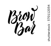 brow bar typography square...   Shutterstock .eps vector #570112054