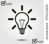 light lamp sign icon. idea bulb ... | Shutterstock .eps vector #570112633