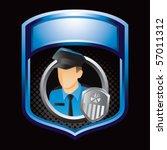 police officer blue shiny... | Shutterstock .eps vector #57011312
