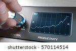 hand turning control knob to...   Shutterstock . vector #570114514