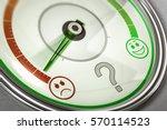 3d illustration of satisfaction ... | Shutterstock . vector #570114523