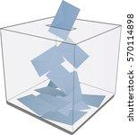 ballot box isolated on white  ...   Shutterstock .eps vector #570114898