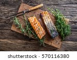Grilled Salmon Fillets With...