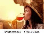 italy france spain rustic wine... | Shutterstock . vector #570119536