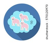 count sheep icon in flat style... | Shutterstock . vector #570120970