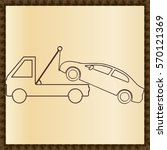 car tow service  24 hours ... | Shutterstock .eps vector #570121369
