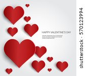 valentine day gift card holiday ... | Shutterstock .eps vector #570123994
