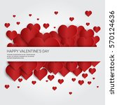 valentine day gift card holiday ... | Shutterstock .eps vector #570124636
