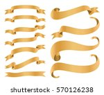 ribbon banners isolated on... | Shutterstock .eps vector #570126238