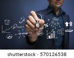 project management ideas... | Shutterstock . vector #570126538