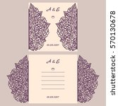 wedding invitation or greeting... | Shutterstock .eps vector #570130678