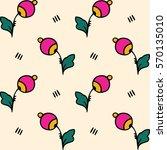 stylized floral pattern in... | Shutterstock .eps vector #570135010