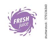 juice splash vector sign | Shutterstock .eps vector #570136360