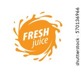 juice splash vector sign | Shutterstock .eps vector #570136966