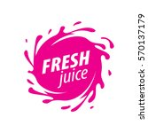 juice splash vector sign | Shutterstock .eps vector #570137179