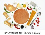 culinary layout. ingredients...   Shutterstock . vector #570141139