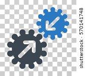 integration gears icon. vector... | Shutterstock .eps vector #570141748