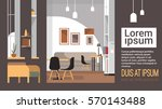 modern cafe interior empty no... | Shutterstock .eps vector #570143488