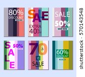set of posters with a sellout   Shutterstock .eps vector #570143548