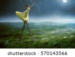 reach for the stars | Shutterstock . vector #570143566