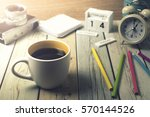 good morning      coffee cup...   Shutterstock . vector #570144526