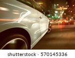 car during a night drive... | Shutterstock . vector #570145336