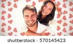 man doing piggy back to...   Shutterstock . vector #570145423