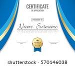vector certificate template. | Shutterstock .eps vector #570146038