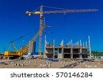 construction site. build a... | Shutterstock . vector #570146284
