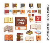 books icons set  isolated... | Shutterstock .eps vector #570150880