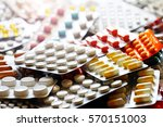 pharmaceutical medication and... | Shutterstock . vector #570151003