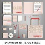 pink corporate identity... | Shutterstock .eps vector #570154588