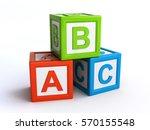 abc alphabet cubes  3d...   Shutterstock . vector #570155548