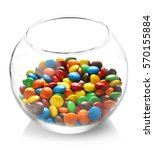 Colorful Candies In Glass Vase...