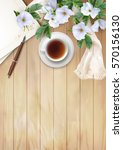 Vector White Flowers  Cup Of...