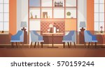 modern cafe interior empty no... | Shutterstock .eps vector #570159244