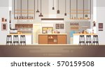 modern cafe interior empty no... | Shutterstock .eps vector #570159508