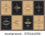 retro creative card template... | Shutterstock .eps vector #570161050