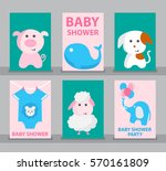 set of baby shower  baby shower ... | Shutterstock .eps vector #570161809